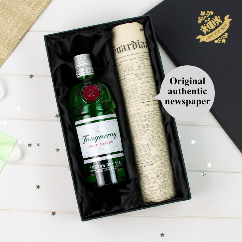 Tanqueray Gin and Newspaper Gift Set | Perfect Gift for a loved one